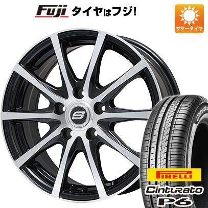 タイヤはフジ 送料無料 BRANDLE ブランドル M71BP 7J 7.00-17 PIRELLI チンチュラートP6 205/50R17 17インチ サマータイヤ ホイール4本セット