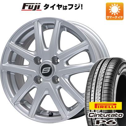 7/25はエントリーでポイント15倍 タイヤはフジ 送料無料 BRANDLE ブランドル M61 5.5J 5.50-15 PIRELLI チンチュラートP6 175/65R15 15インチ サマータイヤ ホイール4本セット