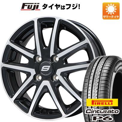 タイヤはフジ 送料無料 BRANDLE ブランドル M61BP 5.5J 5.50-15 PIRELLI チンチュラートP6 185/60R15 15インチ サマータイヤ ホイール4本セット