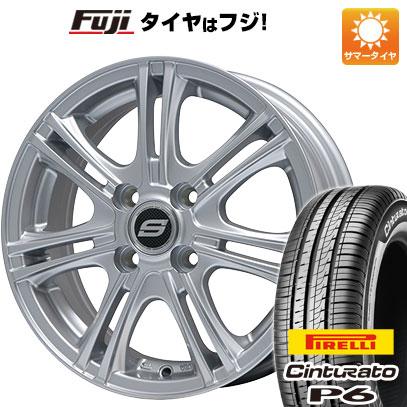 タイヤはフジ 送料無料 BRANDLE ブランドル M68 5.5J 5.50-15 PIRELLI チンチュラートP6 175/65R15 15インチ サマータイヤ ホイール4本セット