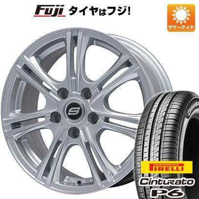 タイヤはフジ 送料無料 BRANDLE ブランドル M68 7J 7.00-17 PIRELLI チンチュラートP6 215/50R17 17インチ サマータイヤ ホイール4本セット