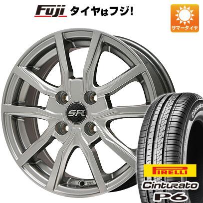 タイヤはフジ 送料無料 BRANDLE ブランドル N52 5.5J 5.50-15 PIRELLI チンチュラートP6 175/65R15 15インチ サマータイヤ ホイール4本セット