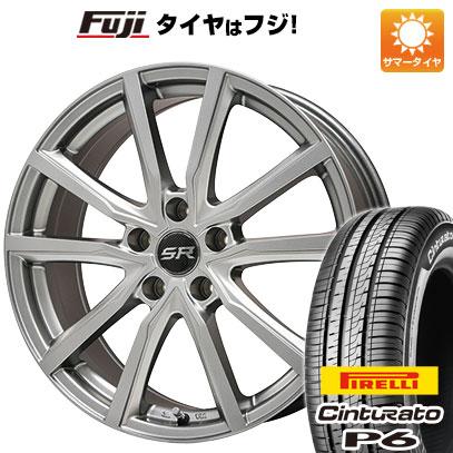 タイヤはフジ 送料無料 BRANDLE ブランドル N52 6.5J 6.50-16 PIRELLI チンチュラートP6 215/65R16 16インチ サマータイヤ ホイール4本セット