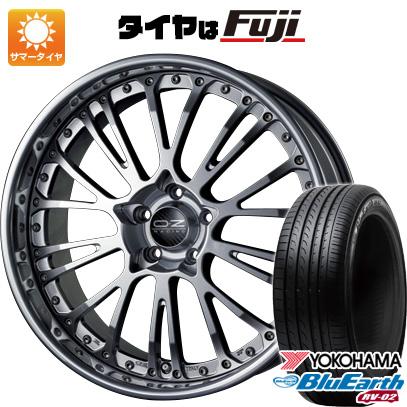 タイヤはフジ 送料無料 OZ ボッティチェッリ3 8J 8.00-19 YOKOHAMA ブルーアース RV-02 245/40R19 19インチ サマータイヤ ホイール4本セット