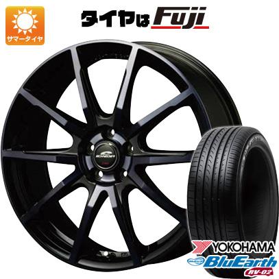 タイヤはフジ 送料無料 MID シュナイダー DR-01 7J 7.00-17 YOKOHAMA ブルーアース RV-02 215/45R17 17インチ サマータイヤ ホイール4本セット