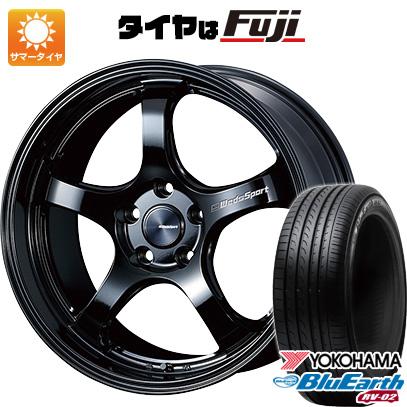 大特価 タイヤはフジ 送料無料 WEDS ウェッズスポーツ RN-05M 7.5J 7.50-18 YOKOHAMA ブルーアース RV-02 225/60R18 18インチ サマータイヤ ホイール4本セット, アオイロ 3ad9e786
