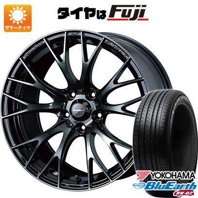 タイヤはフジ 送料無料 WEDS ウェッズスポーツ SA-20R 7J 7.00-17 YOKOHAMA ブルーアース RV-02 215/45R17 17インチ サマータイヤ ホイール4本セット