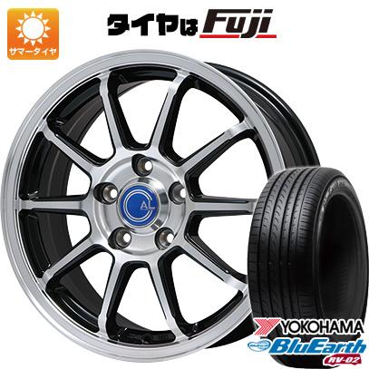 タイヤはフジ 送料無料 BRANDLE-LINE ブランドルライン カルッシャー パールブラックポリッシュ 7.5J 7.50-18 YOKOHAMA ブルーアース RV-02 235/55R18 18インチ サマータイヤ ホイール4本セット