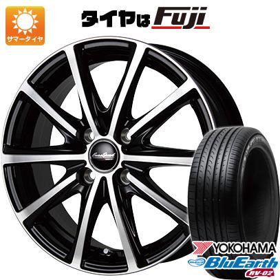 タイヤはフジ 送料無料 MID ユーロスピード V25 6.5J 6.50-16 YOKOHAMA ブルーアース RV-02 205/65R16 16インチ サマータイヤ ホイール4本セット