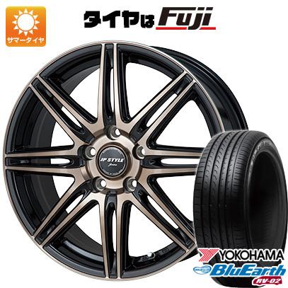 タイヤはフジ 送料無料 MONZA モンツァ JPスタイルジェリバ 6.5J 6.50-16 YOKOHAMA ブルーアース RV-02 195/60R16 16インチ サマータイヤ ホイール4本セット