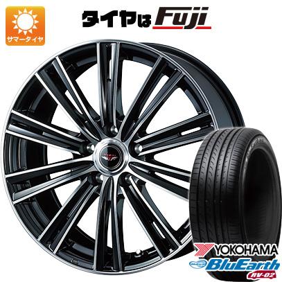 タイヤはフジ 送料無料 WEDS ウェッズ テッドスナップ 6.5J 6.50-16 YOKOHAMA ブルーアース RV-02 215/65R16 16インチ サマータイヤ ホイール4本セット
