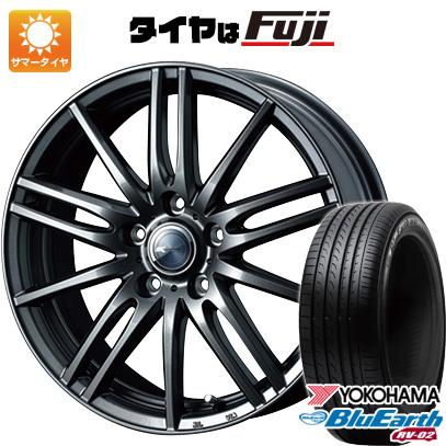 タイヤはフジ 送料無料 WEDS ウェッズ ザミック ティート 6.5J 6.50-16 YOKOHAMA ブルーアース RV-02 205/65R16 16インチ サマータイヤ ホイール4本セット