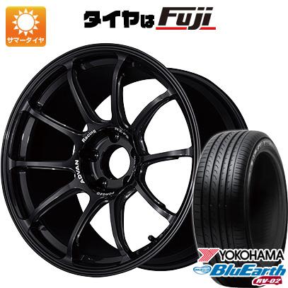 品質は非常に良い タイヤはフジ 送料無料 YOKOHAMA ヨコハマ アドバンレーシング RZーF2 7.5J 7.50-18 YOKOHAMA ブルーアース RV-02 225/45R18 18インチ サマータイヤ ホイール4本セット, カビ屋 011ed94c