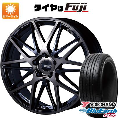 タイヤはフジ 送料無料 SSR ブリッカー 01M 8J 8.00-19 YOKOHAMA ブルーアース RV-02 225/45R19 19インチ サマータイヤ ホイール4本セット