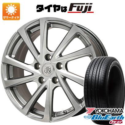 タイヤはフジ 送料無料 BRANDLE ブランドル E04 7J 7.00-17 YOKOHAMA ブルーアース RV-02 225/60R17 17インチ サマータイヤ ホイール4本セット
