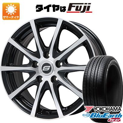 タイヤはフジ 送料無料 BRANDLE ブランドル M71BP 7.5J 7.50-18 YOKOHAMA ブルーアース RV-02 225/60R18 18インチ サマータイヤ ホイール4本セット