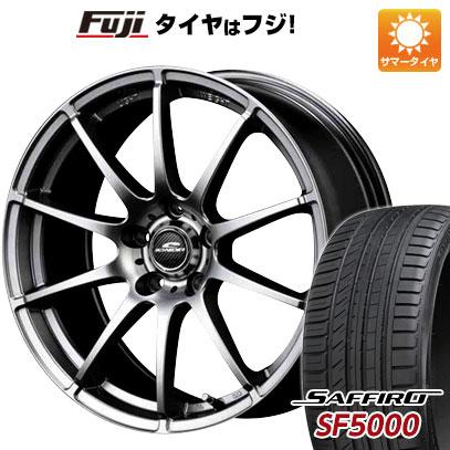 タイヤはフジ 送料無料 MID シュナイダー スタッグ 7J 7.00-18 SAFFIRO サフィーロ SF5000(限定) 215/40R18 18インチ サマータイヤ ホイール4本セット
