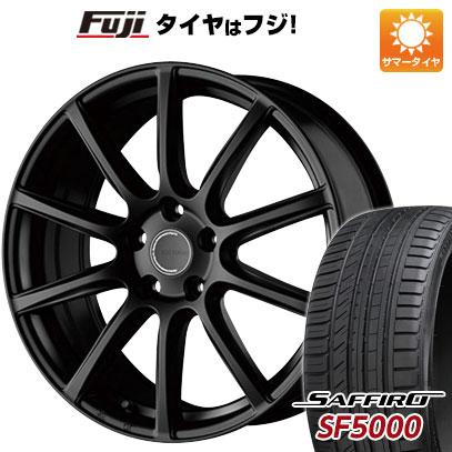 タイヤはフジ 送料無料 BRIDGESTONE ブリヂストン エコフォルム CRS/131 7.5J 7.50-18 SAFFIRO サフィーロ SF5000(限定) 225/55R18 18インチ サマータイヤ ホイール4本セット