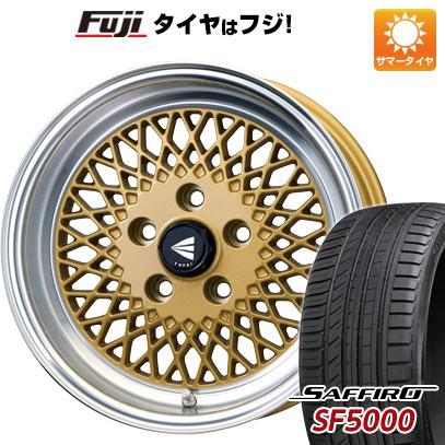 7/25はエントリーでポイント15倍 タイヤはフジ 送料無料 ENKEI エンケイ クラシック ENKEI 92 7J 7.00-15 SAFFIRO サフィーロ SF5000(限定) 195/55R15 15インチ サマータイヤ ホイール4本セット