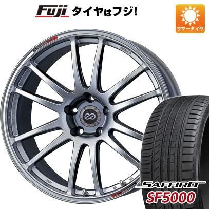 タイヤはフジ 送料無料 ENKEI エンケイ GTC01 7.5J 7.50-17 SAFFIRO サフィーロ SF5000(限定) 215/45R17 17インチ サマータイヤ ホイール4本セット