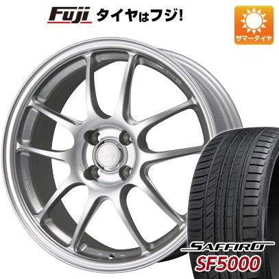 SAFFIRO 15インチ 送料無料 6.5J PF01 SF5000(限定) ENKEI サフィーロ ホイール4本セット エンケイ 185/55R15 タイヤはフジ サマータイヤ 6.50-15