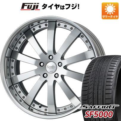 タイヤはフジ 送料無料 WORK ワーク エクイップ E10 F:8.50-20 R:9.50-20 SAFFIRO サフィーロ SF5000(限定) F:245/35R20 R:275/30R20 サマータイヤ ホイール4本セット