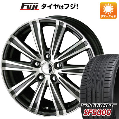 タイヤはフジ 送料無料 KYOHO 共豊 スマック スパロー 7J 7.00-17 SAFFIRO サフィーロ SF5000(限定) 215/50R17 17インチ サマータイヤ ホイール4本セット