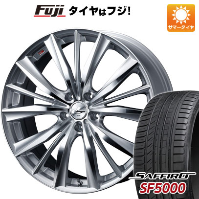 タイヤはフジ 送料無料 WEDS ウェッズ レオニス VX 8J 8.00-19 SAFFIRO サフィーロ SF5000(限定) 225/40R19 19インチ サマータイヤ ホイール4本セット
