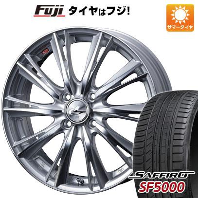 タイヤはフジ 送料無料 WEDS ウェッズ レオニス WX 6J 6.00-16 SAFFIRO サフィーロ SF5000(限定) 195/45R16 16インチ サマータイヤ ホイール4本セット