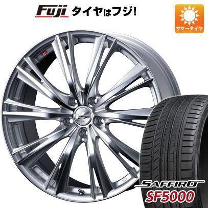タイヤはフジ 送料無料 WEDS ウェッズ レオニス WX 8J 8.00-19 SAFFIRO サフィーロ SF5000(限定) 225/40R19 19インチ サマータイヤ ホイール4本セット