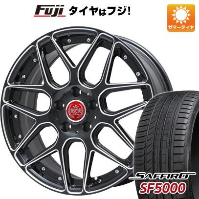 タイヤはフジ 送料無料 LEHRMEISTER レアマイスター ドレスデン(ブラックエッジブラッシュド) 8.5J 8.50-20 SAFFIRO サフィーロ SF5000(限定) 225/35R20 20インチ サマータイヤ ホイール4本セット