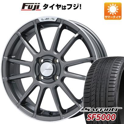 タイヤはフジ 送料無料 LEHRMEISTER LM-S トスカーナ6 (マットグラファイト/リムポリッシュ) 6.5J 6.50-16 SAFFIRO サフィーロ SF5000(限定) 205/50R16 16インチ サマータイヤ ホイール4本セット