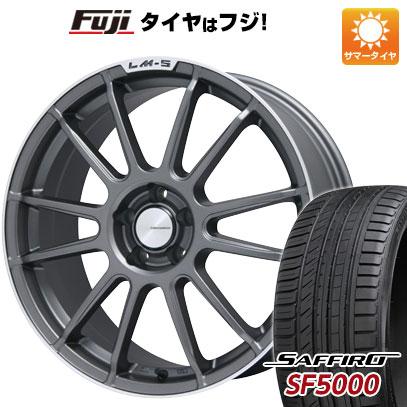 タイヤはフジ 送料無料 LEHRMEISTER LM-S トスカーナ6 (マットグラファイト/リムポリッシュ) 7.5J 7.50-18 SAFFIRO サフィーロ SF5000(限定) 225/45R18 18インチ サマータイヤ ホイール4本セット