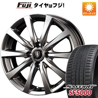 タイヤはフジ 送料無料 MID ユーロスピード G10 5.5J 5.50-15 SAFFIRO サフィーロ SF5000(限定) 185/55R15 15インチ サマータイヤ ホイール4本セット