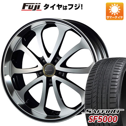 タイヤはフジ 送料無料 MZ SPEED エムズスピード ジュノウ バベル 8J 8.00-19 SAFFIRO サフィーロ SF5000(限定) 225/40R19 19インチ サマータイヤ ホイール4本セット