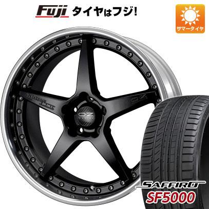 タイヤはフジ 送料無料 OZ クロノ3 8.5J 8.50-20 SAFFIRO サフィーロ SF5000(限定) 245/30R20 20インチ サマータイヤ ホイール4本セット