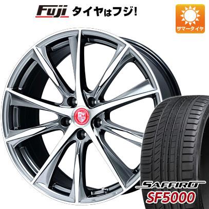 タイヤはフジ 送料無料 PREMIX プレミックス マオウ(SBCポリッシュ) 6.5J 6.50-17 SAFFIRO サフィーロ SF5000(限定) 205/40R17 17インチ サマータイヤ ホイール4本セット