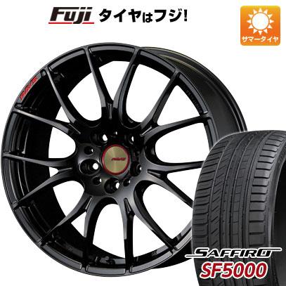 タイヤはフジ 送料無料 RAYS レイズ ホムラ 2X7 Glossy Black 8.5J 8.50-19 SAFFIRO サフィーロ SF5000(限定) 235/35R19 19インチ サマータイヤ ホイール4本セット