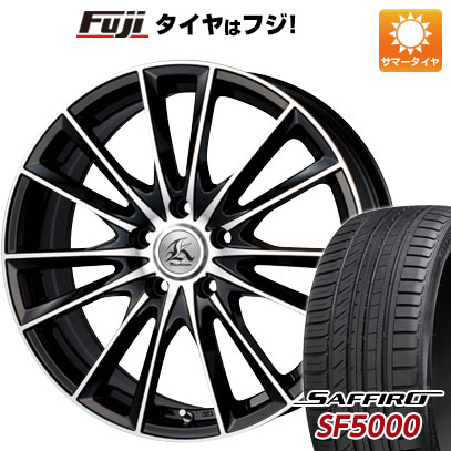 タイヤはフジ 送料無料 TECHNOPIA テクノピア カシーナ FV-7 7.5J 7.50-19 SAFFIRO サフィーロ SF5000(限定) 225/35R19 19インチ サマータイヤ ホイール4本セット