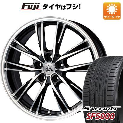 タイヤはフジ 送料無料 TECHNOPIA テクノピア カシーナ XV-5 7J 7.00-17 SAFFIRO サフィーロ SF5000(限定) 215/55R17 17インチ サマータイヤ ホイール4本セット