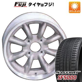 タイヤはフジ 送料無料 WATANABE ワタナベ エイトスポーク 6.5J 6.50-15 SAFFIRO サフィーロ SF5000(限定) 185/55R15 15インチ サマータイヤ ホイール4本セット