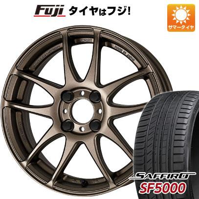 タイヤはフジ 送料無料 WORK ワーク エモーション CR kiwami 6.5J 6.50-16 SAFFIRO サフィーロ SF5000(限定) 195/55R16 16インチ サマータイヤ ホイール4本セット
