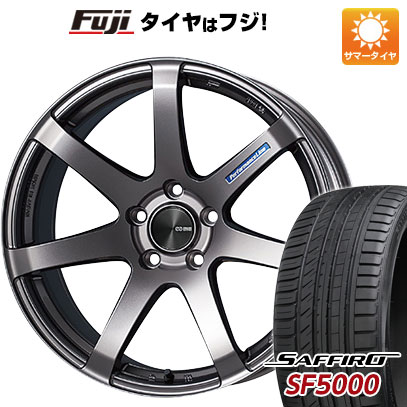 タイヤはフジ 送料無料 ENKEI エンケイ PF07 7J 7.00-16 SAFFIRO サフィーロ SF5000(限定) 195/50R16 16インチ サマータイヤ ホイール4本セット
