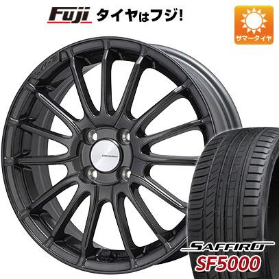 タイヤはフジ 送料無料 LEHRMEISTER LM-S トレント15 (ガンメタブラッククリア) 6.5J 6.50-16 SAFFIRO サフィーロ SF5000(限定) 205/50R16 16インチ サマータイヤ ホイール4本セット