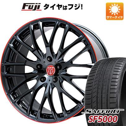 タイヤはフジ 送料無料 PREMIX プレミックス グラッパ(ブラックパール/レッドクリア) 7J 7.00-18 SAFFIRO サフィーロ SF5000(限定) 215/40R18 18インチ サマータイヤ ホイール4本セット