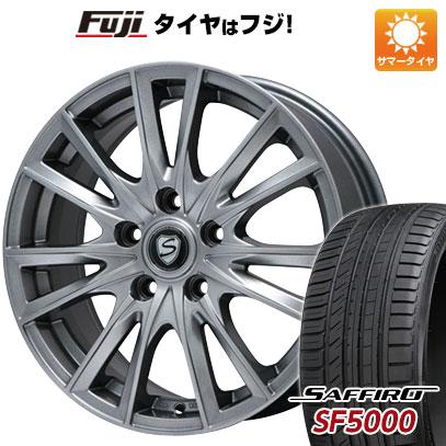 タイヤはフジ 送料無料 BRANDLE ブランドル 485 6.5J 6.50-16 SAFFIRO サフィーロ SF5000(限定) 195/50R16 16インチ サマータイヤ ホイール4本セット