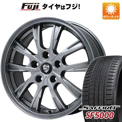 タイヤはフジ 送料無料 BRANDLE ブランドル 486 6.5J 6.50-16 SAFFIRO サフィーロ SF5000(限定) 195/50R16 16インチ サマータイヤ ホイール4本セット