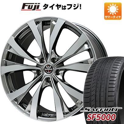 タイヤはフジ 送料無料 PREMIX プレミックス サッシカイア(BMCポリッシュ) 7J 7.00-18 SAFFIRO サフィーロ SF5000(限定) 215/40R18 18インチ サマータイヤ ホイール4本セット