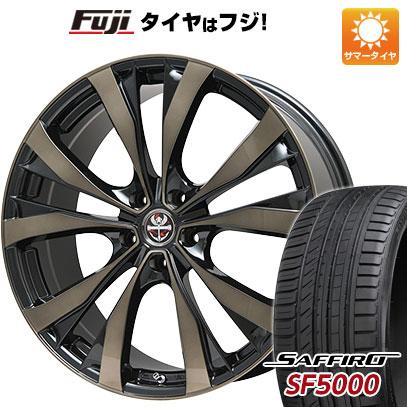 タイヤはフジ 送料無料 PREMIX プレミックス サッシカイア(ブロンズクリア) 7J 7.00-18 SAFFIRO サフィーロ SF5000(限定) 215/40R18 18インチ サマータイヤ ホイール4本セット