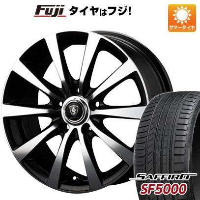 タイヤはフジ 送料無料 MID ユーロスピード BL-10 8J 8.00-18 SAFFIRO サフィーロ SF5000(限定) 235/50R18 18インチ サマータイヤ ホイール4本セット